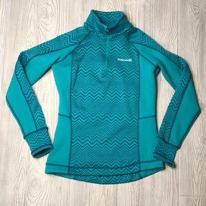 Avalanche ChevronTurquoise 1/4 Zip Sweatshirt